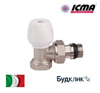 Icma угловой ручной вентиль простой регулировки 1/2. Двойная прокладка на механизме и металлическое уплотнение