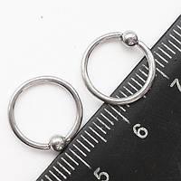 Кольца сегментные 10 мм диаметр, толщина 1.2 мм, с шариком 3мм для украшения пирсинга из медицинской стали.