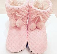 Тапочки детские мягкие, теплые - домашние угги. Розовые 27-30