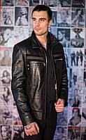 Куртка кожаная со вставками из натуральной замши, фото 1