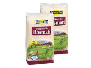 Рис традиционный длиннозернистый Basmati Traditioneller Golden Sun, Италия 1 кг.