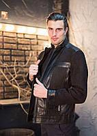 Куртка кожаная с замшевыми вставками, фото 1