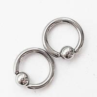 Кольцо сегментное  1.2х6х3мм для украшения пирсинга из медицинской стали., фото 1