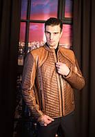 Кожаная куртка (мужская), с перфорацией, фото 1