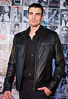 Кожаная куртка в черном цвете, фото 1