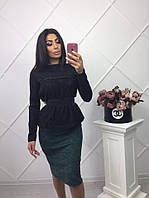Женский костюм (42-46)  — трикотаж  купить оптом и в Розницу в одессе  7км