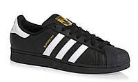 Adidas SuperStar Black White Strip , фото 1