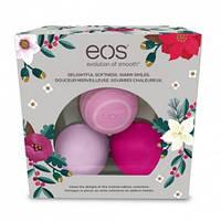 """Набор бальзамов для губ """"Медовое яблоко, дикая ягода и маракуйя"""" EOS Limited Edition Holiday Lip Balm (3x7g)"""
