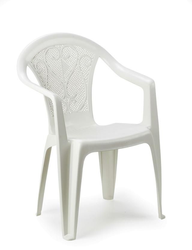 Кресло садовое Ole белое. Длина, см55 Ширина, см54 Высота, см82 Вес, кг2.75 МатериалПолипропилен Минимальная партия, шт.180 Страна производительИталия