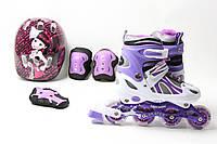 Комплект роликов Павер Чамс фиолетовый