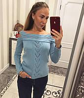 Свитер женский (61% лен, 39% хлопок)
