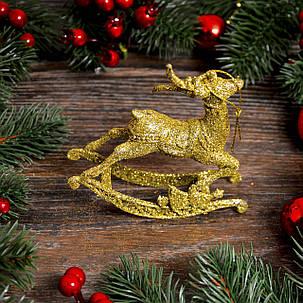 Новогоднее украшение Олень детский золото 0327, фото 2