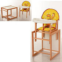 Деревянный стульчик трансформер для кормления М V-102-23-3Vivast