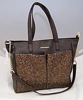 Женская сумка Givenchy с блестками, цвет коричневый Живанши