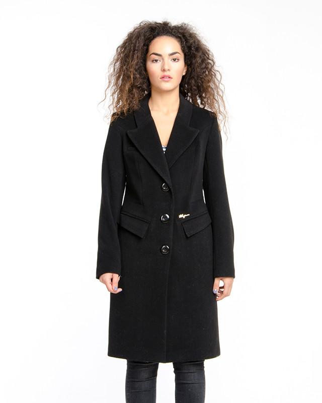 Классическое приталенное приталенное пальто