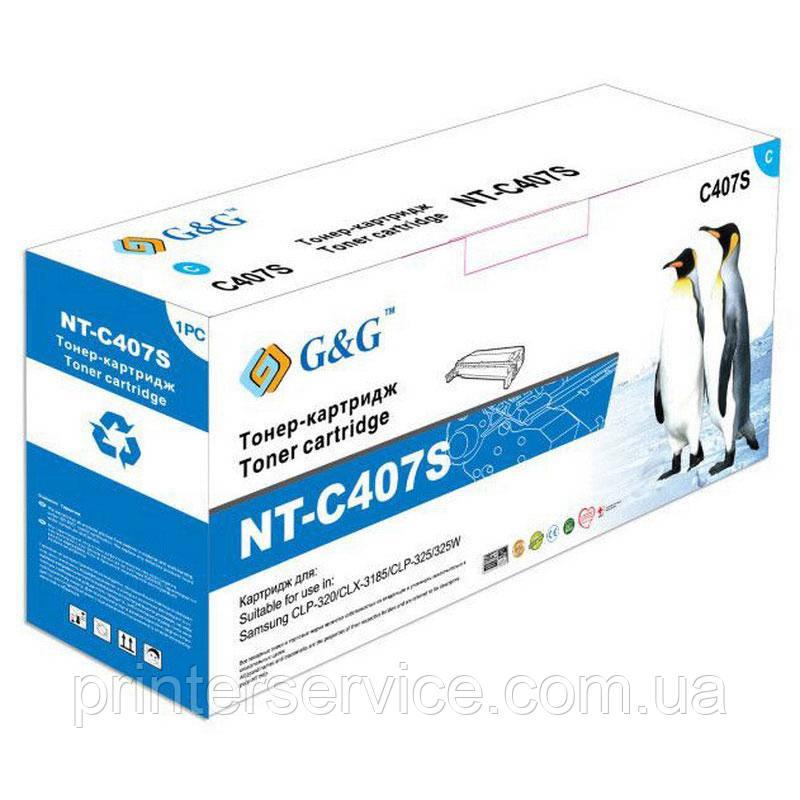 Картридж аналог CLT-C407S/SEE для Samsung CLP-320/ 325 CLX-3185 (G&G NT-C407S)