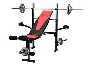 Лавка HS1055 + Штанга 50 кг, фото 3