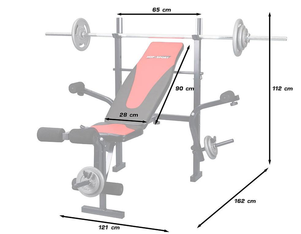 Лавка HS1055 + Штанга 50 кг