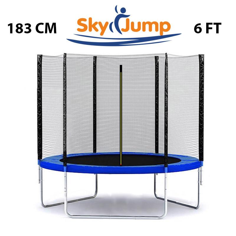 Батут SkyJump 6 фт., 183 см. з захисною сіткою -  КРАЩА ЦІНА!