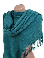 Шарф платок женский теплый вязаный шерстяной