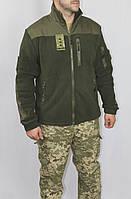 Куртка флисовая олива