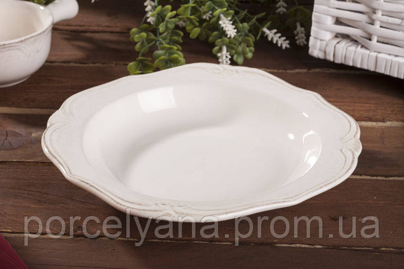 Тарелка глубокая керамическая Роман 230 мм