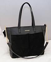 Женская замшевая сумка Givenchy, цвет черный Живанши, фото 1