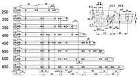 Направляющая мебельная L-500 mm PR-1100-500