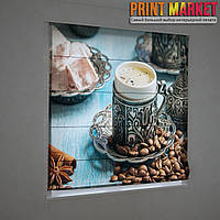 Фотошторы римские кружка с кофе