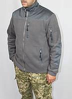 Куртка флисовая серая