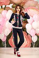 Женскийспортивный костюм Violetta с цветочным принтом цвет Черный
