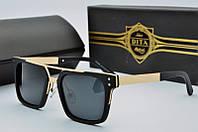 Солнцезащитные очки прямоугольные Dita Von Teese черные в золоте
