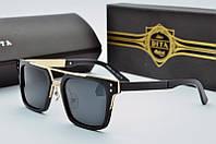 Солнцезащитные очки прямоугольные Dita Von Teese черные глянцевые с золотом