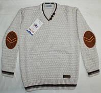Пуловер вязанный для мальчика 4-5-6-7-8-9 лет Сетка