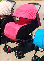 Коляска детская прогулочная  M 3443L-8 розовая ***