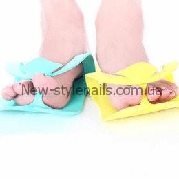 Тапочки одноразовые, вьетнамки для педикюра (Пенелон 2,5 ММ, цветные)10 пар в упаковке
