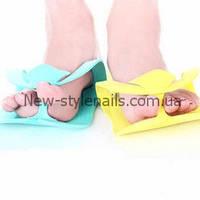 Тапочки одноразовые, вьетнамки для педикюра (Пенелон 2,5 ММ, цветные)10 пар в упаковке, фото 1