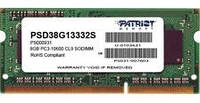 Память SODIMM 8GB DDR3-1333 PC3-10600 CL9 Patriot PSD38G13332S