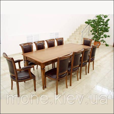 """Обеденная группа """"Рома""""(стол, 2 кресла и 8 стульев)."""
