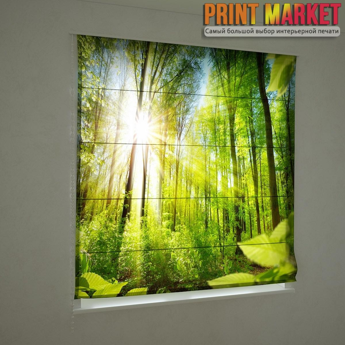 Фотошторы римские солнечный лес