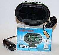 Електронні годинник з термометром, вольтметром, Соня для автомобіля, фото 1