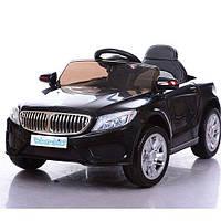 Детский электромобиль BMW M 3270 EBLR-2 с кожаным сиденьем, на мягких колёсах,черный