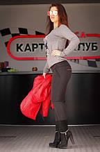 """Лосины женские на флисе черные """"Нелли"""" арт.5514"""