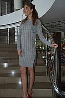 """Женское вязаное платье """"Косичка""""  Италия, фото 1"""