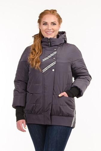 Женская демисезонная куртка с манжетами