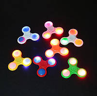 Спиннеры светящиеся пластик Fidget spinner цвета разные,