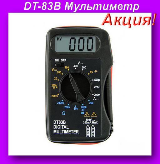 Мультиметр DT-83B,Компактный цифровой мультиметр,тест диодов!Акция