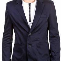 Мужской пиджак под джинсы приталенный синий, белый, черный