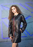Кардиган кожаный Oscar Fur 496 Черный, фото 1