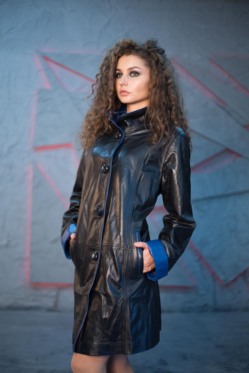Плащ кожаный Oscar Fur 497 Черный